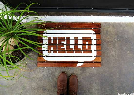 Diy wooden doormat weekend project
