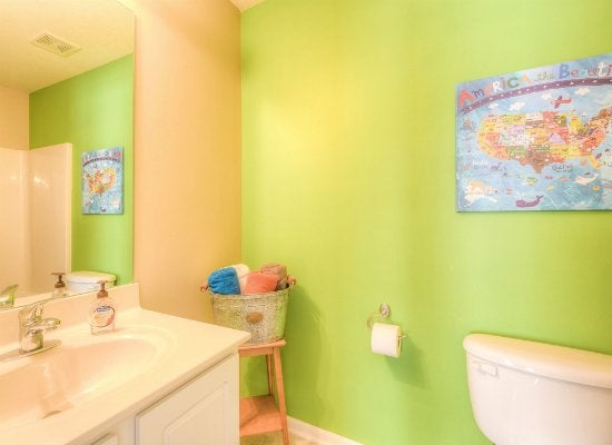 Kids bath bright colors