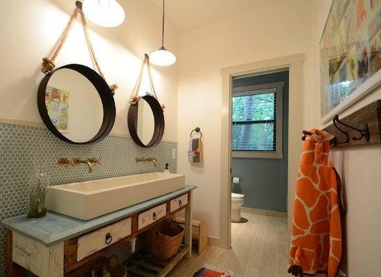 bathroom storage solutions - Kids Bathroom