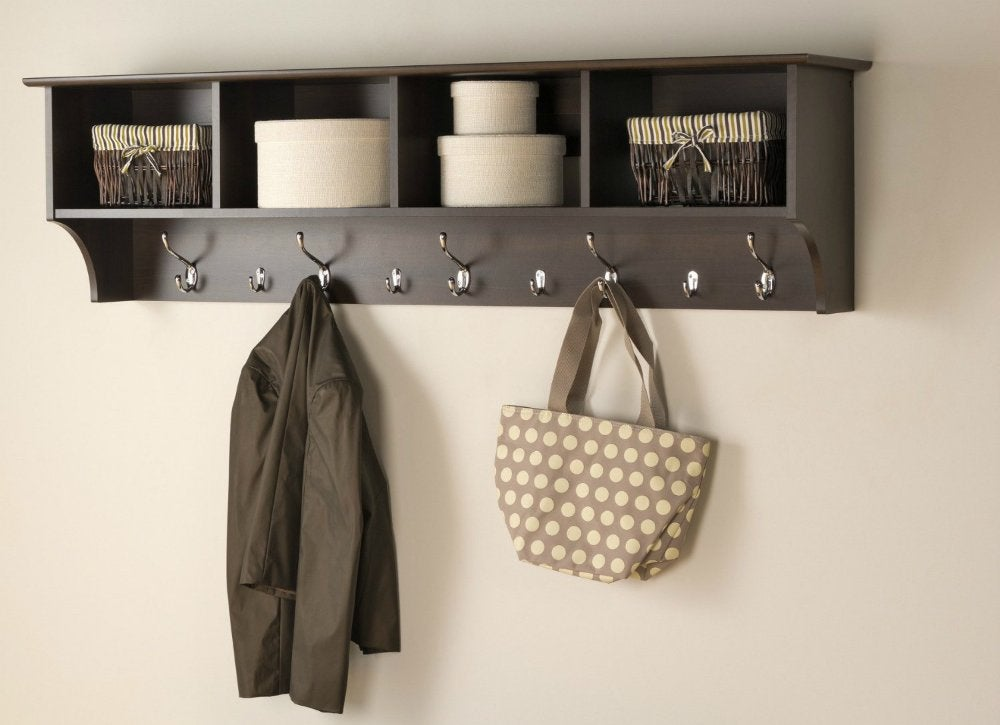 Entryway   hanging wall shelf