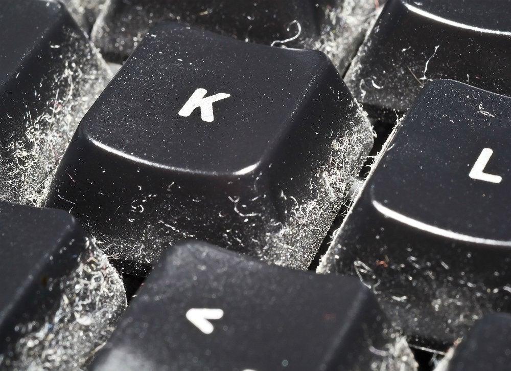 Clean keyboard hair dryer