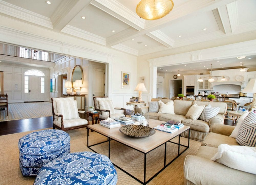 make living room spacious using simple and smart tricks internal decoration Thoughtful lighting design is key for every room, but it becomes especially  important in an open floor plan. Use attention-grabbing ceiling fixtures to  ...