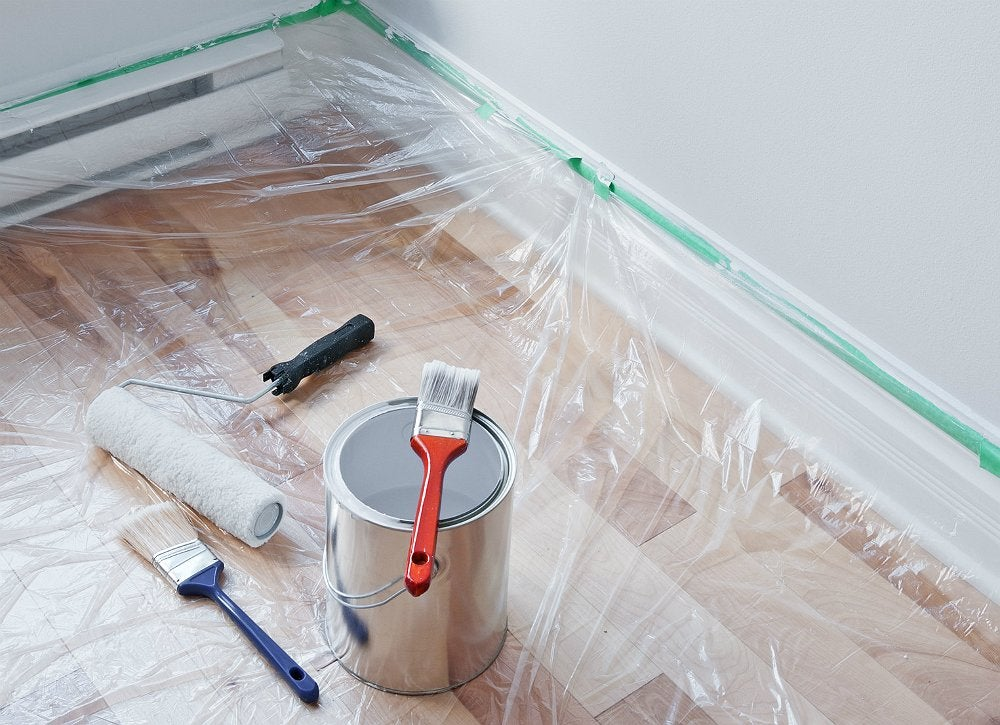 White walls are unforgiving, exposing every tiny dent or smudge. Be sure to  patch any holes or imperfections with a skim coat and sand as necessary.