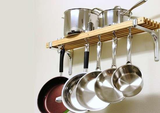 Wallmounted pot rack