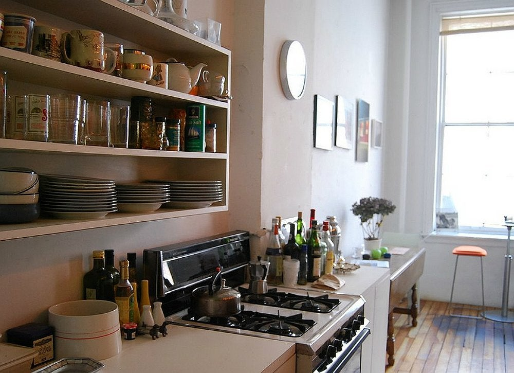 open kitchen shelving open shelving small room ideas 13 no fail tips bob vila 31229