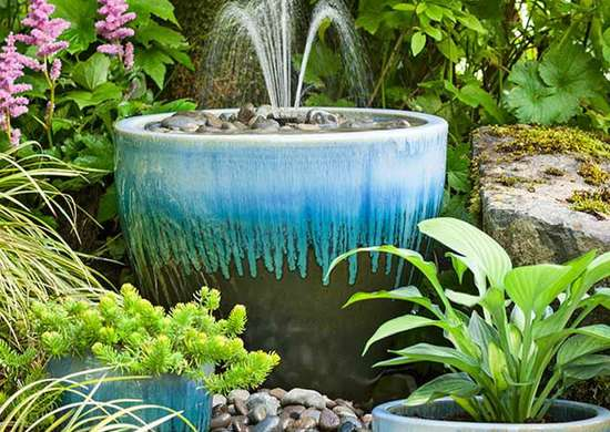 DIY Planter Fountain