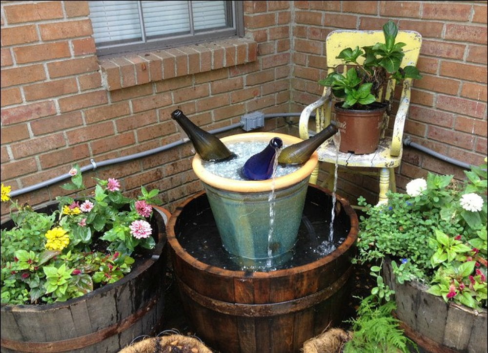 Diy fountain ideas 10 creative projects bob vila for Backyard fountains