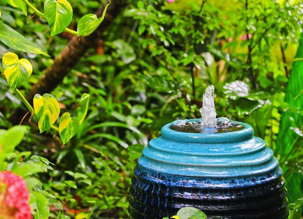Backyard fountain