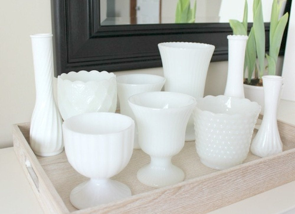 Milk glass collection