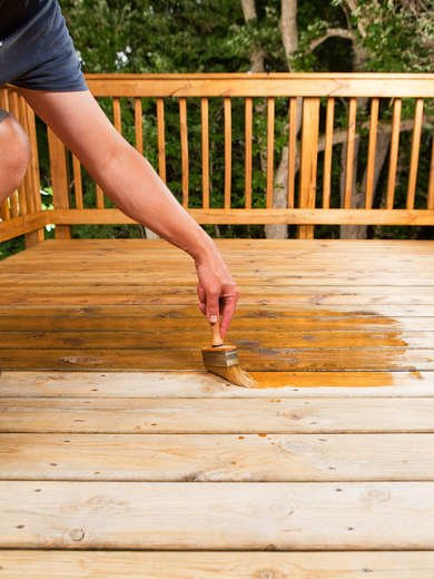 Stain a Wood Deck