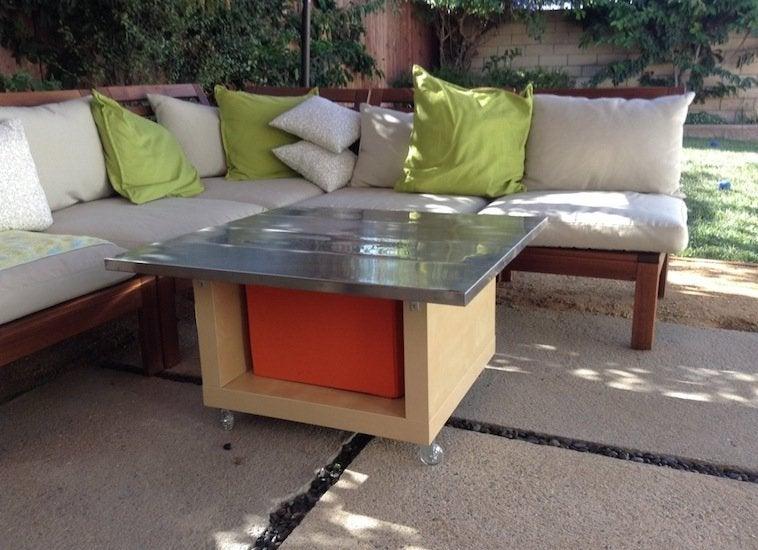 Ikea hack patio table