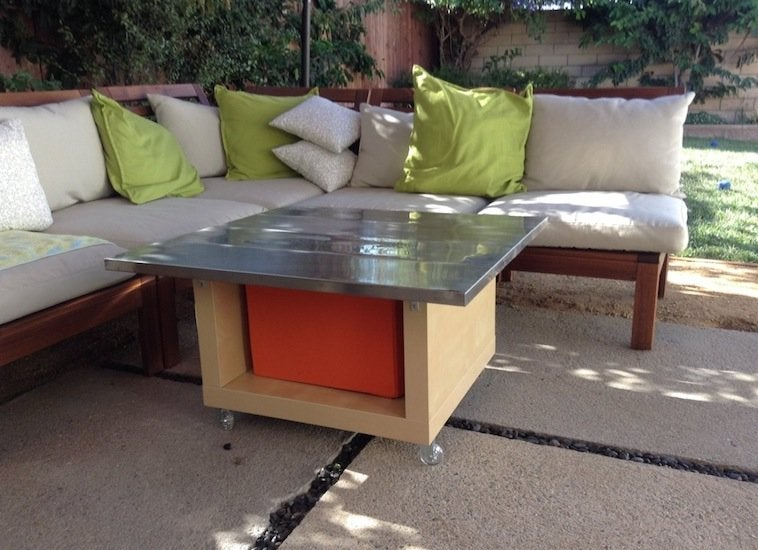 Ikea hack patio table