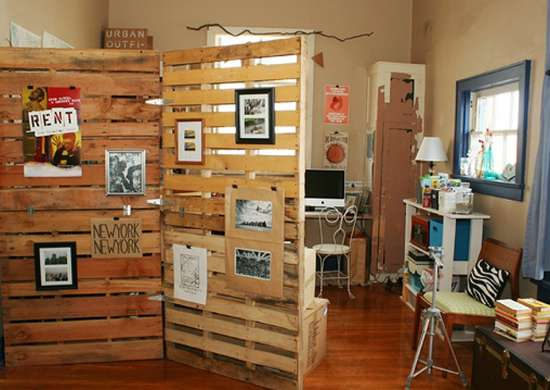 Pallet Room Divider Ideas