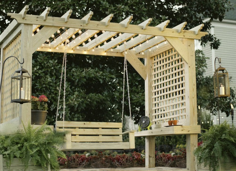 Diy backyard ideas 9 creative ways to make a hangout for Simple pergola ideas