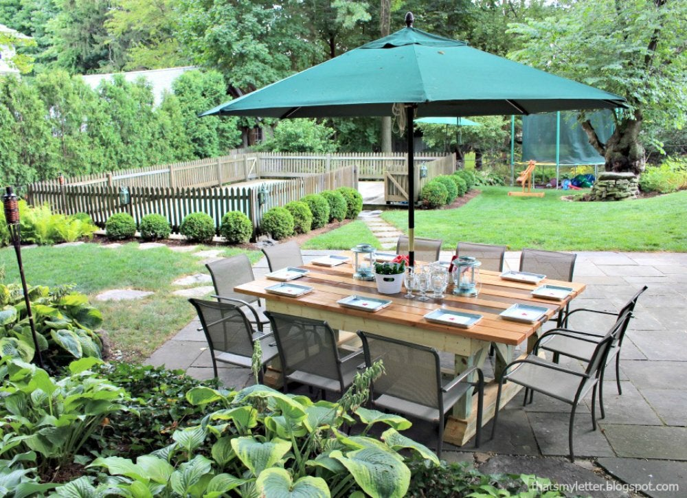 Diy backyard ideas 9 creative ways to make a hangout for 10 person picnic table