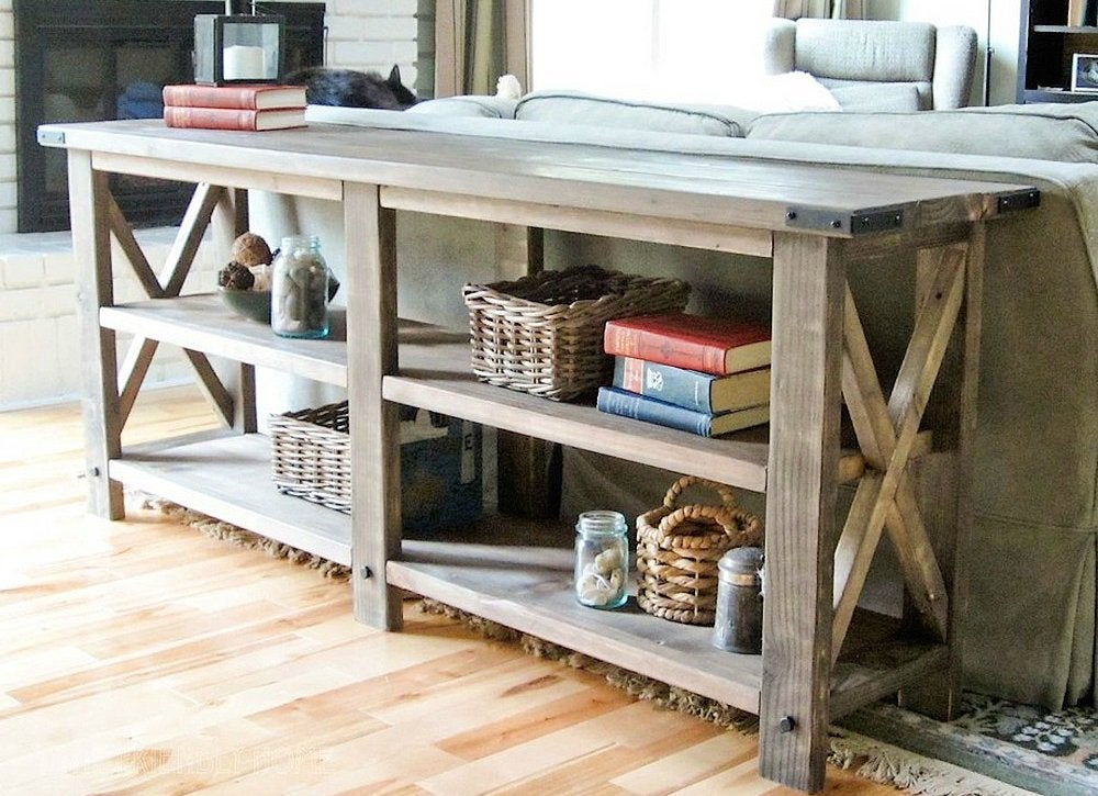 Diy console table 2x4 projects 8 cool diys bob vila for Cool things to build with 2x4s