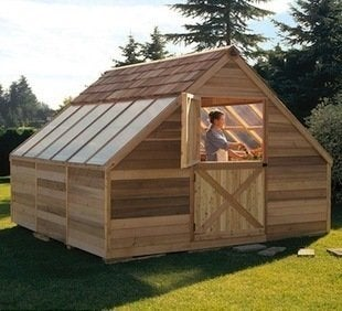 Sears cedar shed sunhouse backyard greenhouse storage 8 16 feet shed