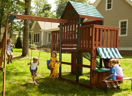 Play Fort And Swing Set
