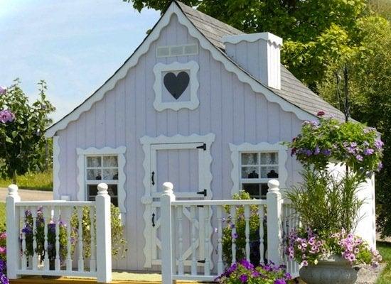 Gingerbread wood playhouse