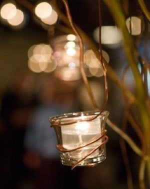 Theknot copper wire hanging votives