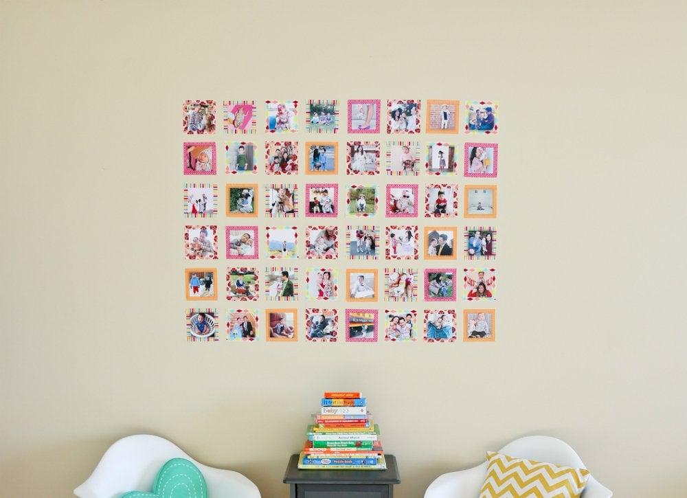 Washi tape photo gallery wall