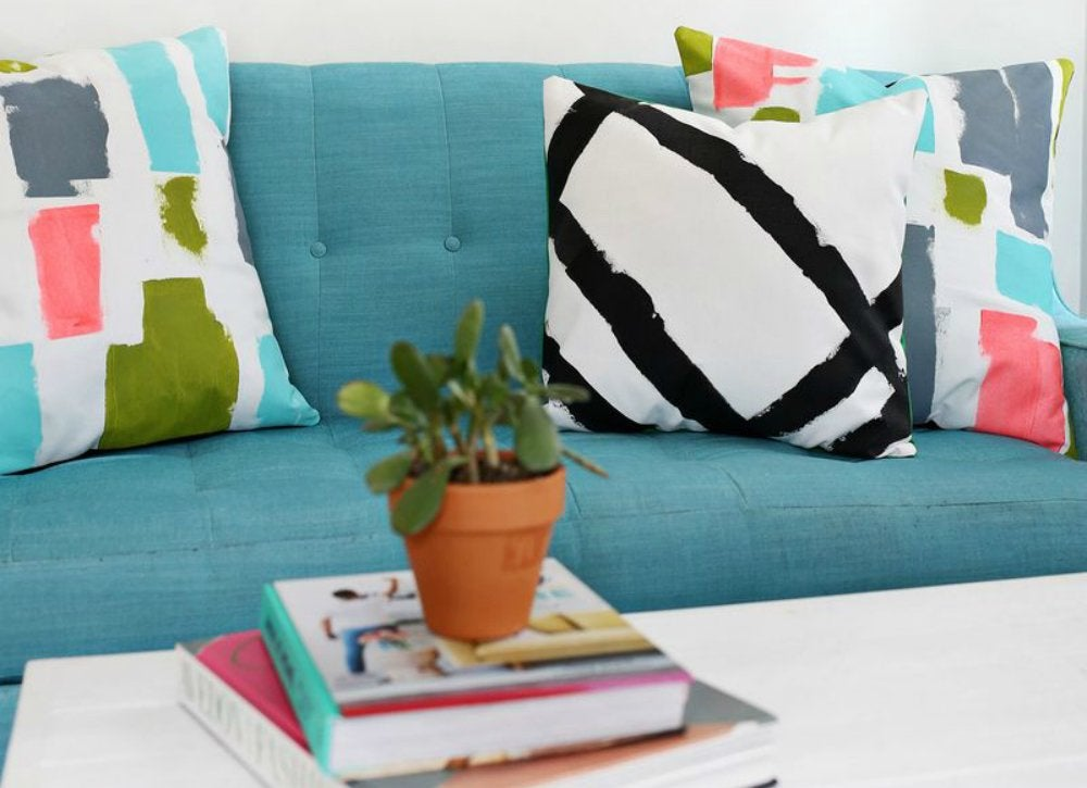 Mini makeovers   throw pillows