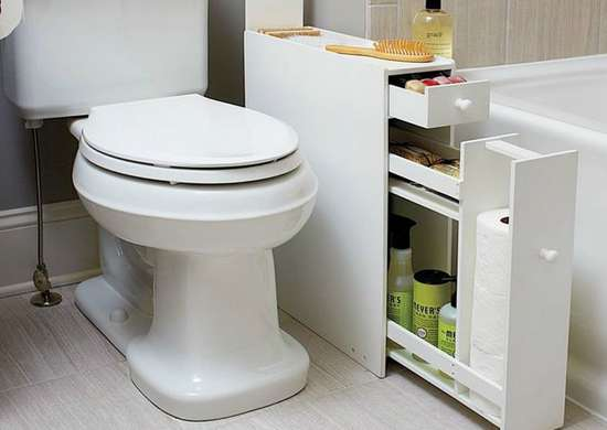 Bathroom remodels for small spaces - Narrow Bathroom Cabinet Bathroom Storage Ideas 10