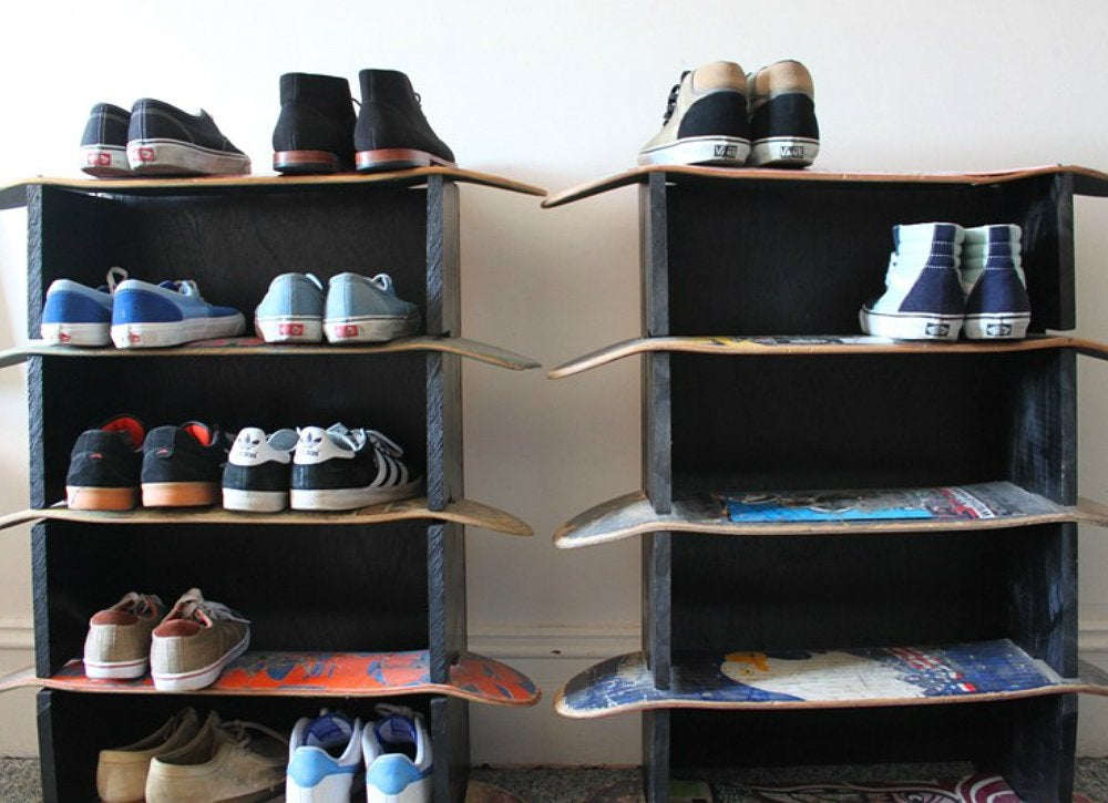Unique Patterns And Bright Designs Make Skateboard Decks The Ultimate  Custom Shelves. Remove The Wheels And Slide Them Into A Bookshelf Or Storage  Unit To ...