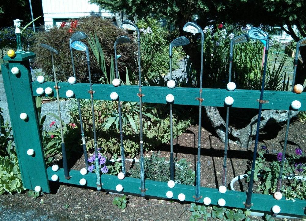 Sporting equipment   golf club fence