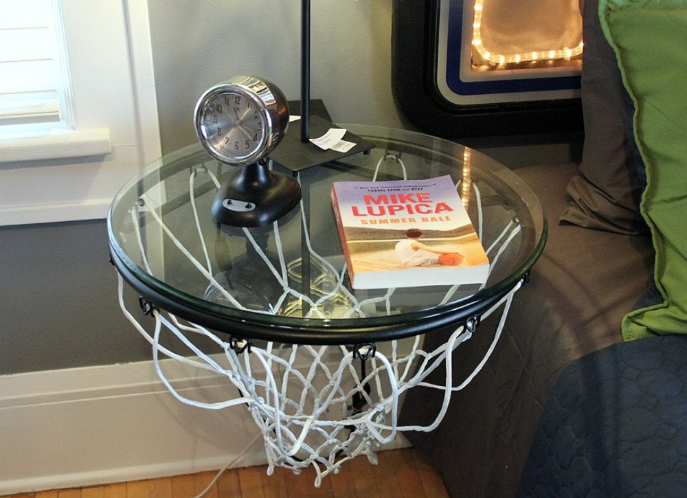 Sporting equipment   basketball hoop table