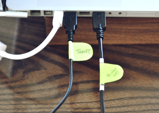 Post it cable label
