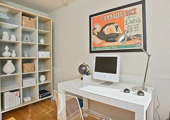 Taupe home office