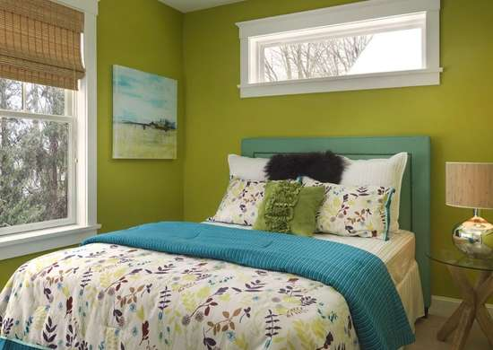Green bedroom idea