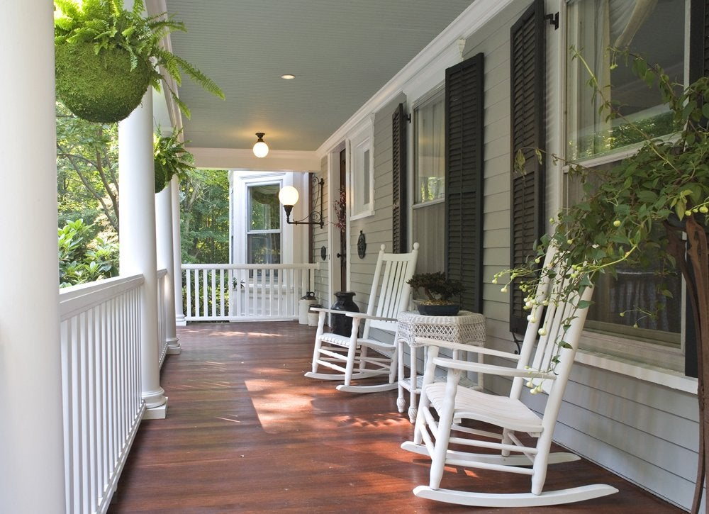 Porch makeover   declutter