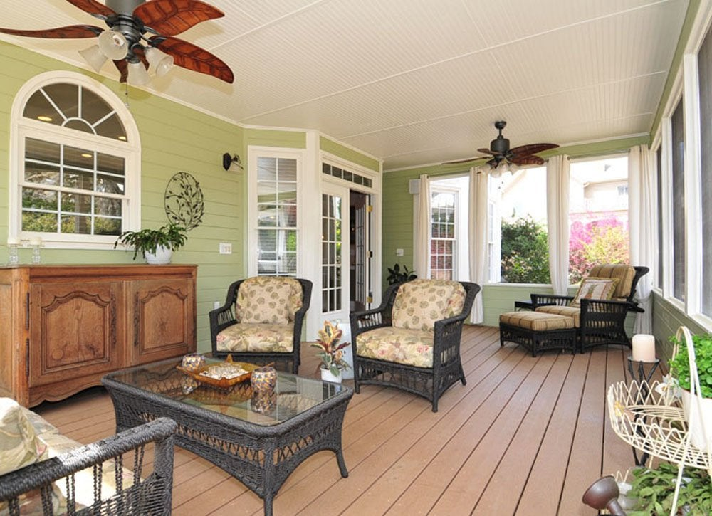 Porch makeover   fan