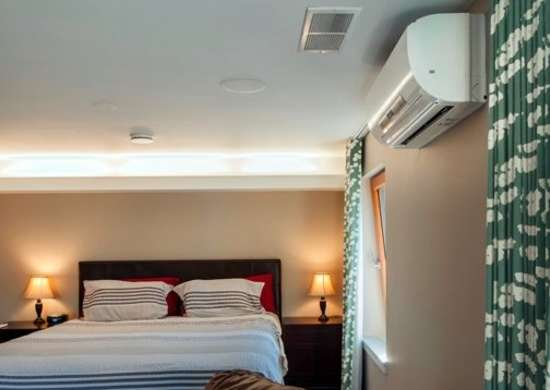 Winter ductless hvac