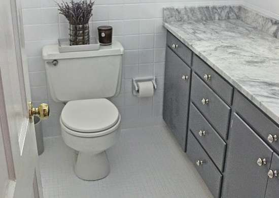 Painted Tiles Small Bathroom Makeovers Before And After Bob Vila