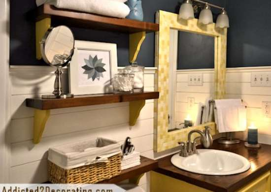 Eclectic bathroom makeover