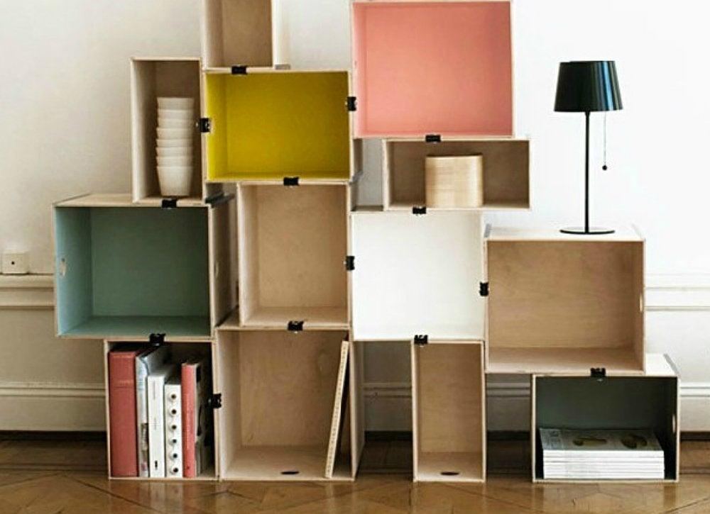 Wood crate storage