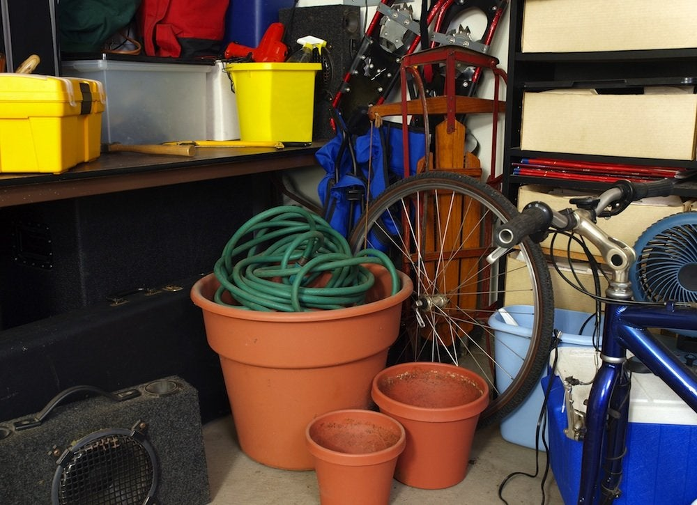 Organize a cluttered garage