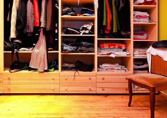 Walk in custom closet