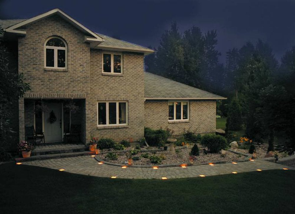 Intersperse pavers with lights