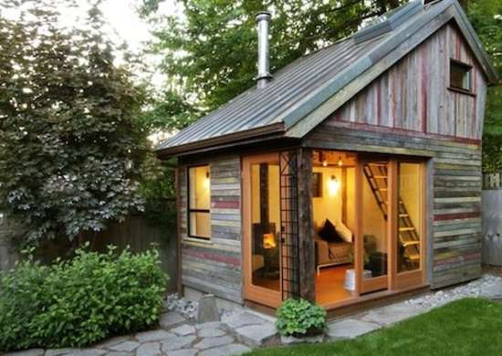 Backyard shed retreat