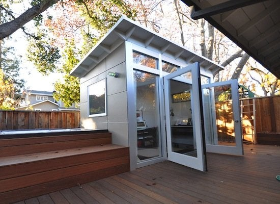 Home music studio backyard sheds 8 other uses for for Garden shed music studio