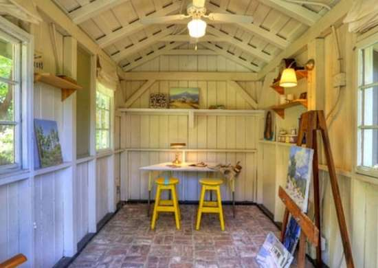 Shed artist studio