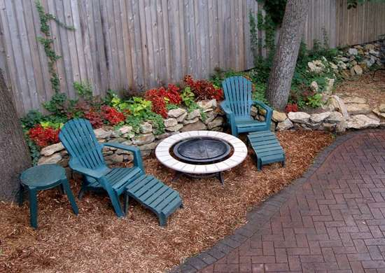 ground cover mulch - backyard landscape ideas - 8 lawn-less ... - Patio Ground Cover Ideas