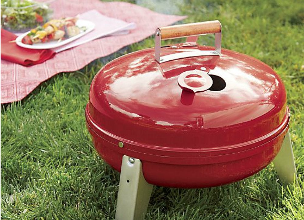 Red camping grill