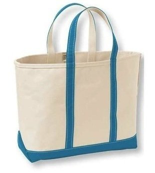 Llbean open tote boat and tote canvas bag