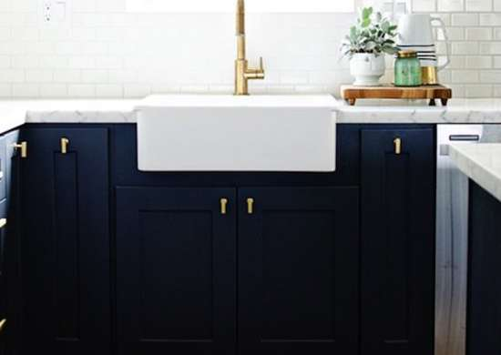 Navy Blue Kitchen Cabinets Diy Kitchen Cabinets Simple Ways To