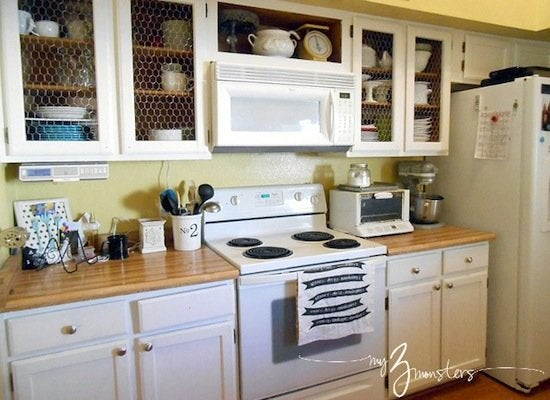Chickenwire cabinets    1